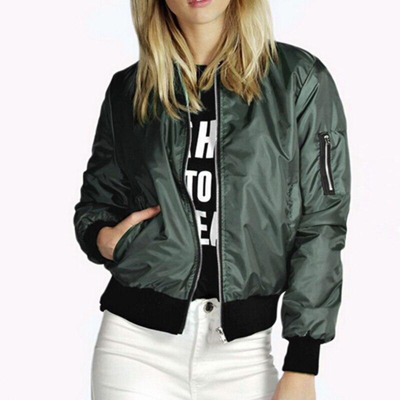 Fashion Women Jackets Spring Autumn Coats Long Sleeve Basic Jackets Zipper Thin Female Jacket Solid Windbreaker Outwear Winter
