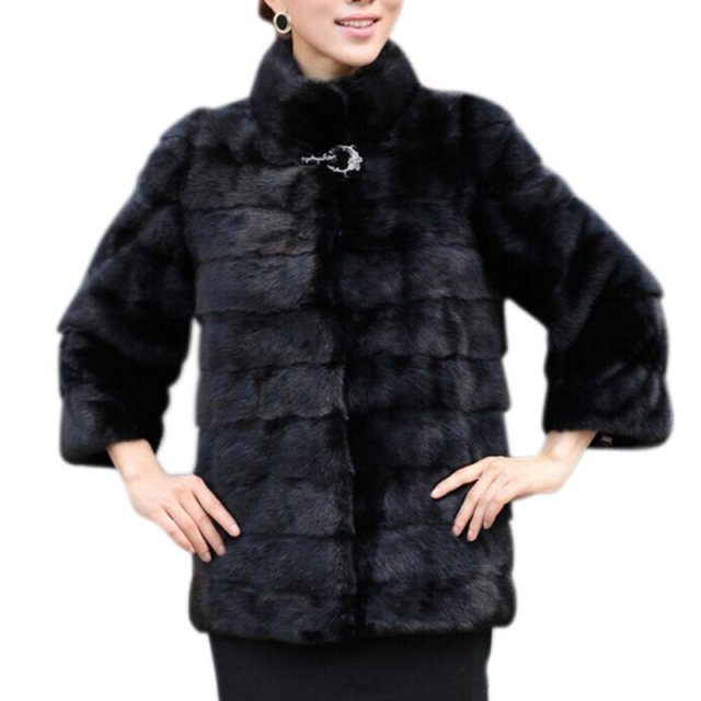 Winter Coat Women High-grade Elegant Women Solid Coat Manteau Femme Rabbit Fur Coat Plus Size Female Outerwear