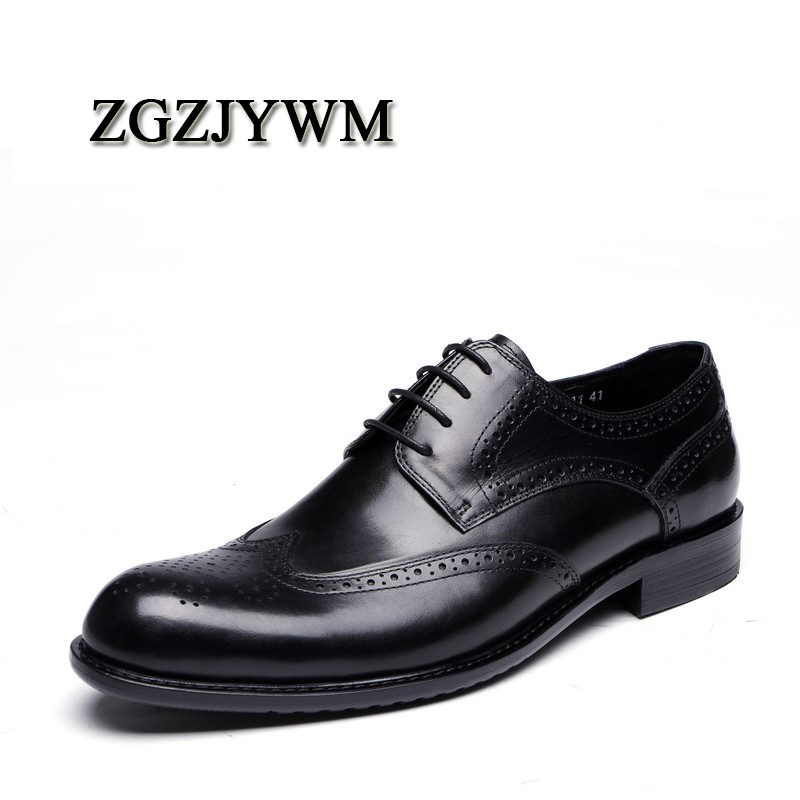 ZGZJYWM New Breathable Black Carved Loafers Mens Dress Genuine Leather Lace-Up Pointed Toe Wedding Mens Casual Business ShoesZGZJYWM New Breathable Black Carved Loafers Mens Dress Genuine Leather Lace-Up Pointed Toe Wedding Mens Casual Business Shoes