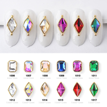 10pcs Charm Alloy Base 3D Nail Art Rhinestone Decorations Flat-back Shiny Crystal Jewelry Diamonds Design Manicure Accessories cheap 13 options 3D Nail Art Decorations 10 pcs Glass Rhinestone Decoration As The Picture Shows Nails Design Manicure Accessory