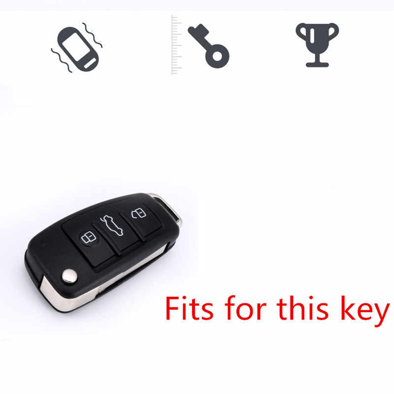 Nouveau étui à clés souple pour Audi A1 A3 A4 A5 Q7 A6 C5 C6 coque de protection pour voiture
