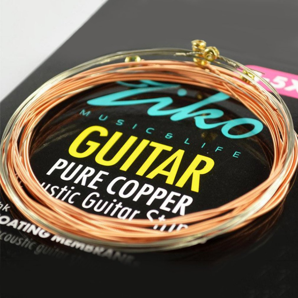 ziko dr 010 012 acoustic guitar strings pure copper strings anti rust coating membrane musical. Black Bedroom Furniture Sets. Home Design Ideas