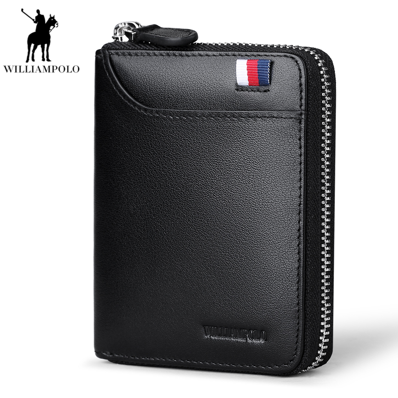 2018 Genuine Leather Men Wallets Purse Money Bag Fashion Male Wallet Card Holder Coin Purse Wallet Men Small Clutch Pocket PL190 crazy horse genuine leather men wallet short male wallet small purse coin pocket money bag vintage card holder cartera hombre