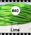 2.5mm 100yds/spool Lime (#40) Rattail Satin Cord Chinese Beading Polyester (similar but not nylon) Cord NCP5