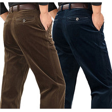 Corduroy pants loose middle-aged joggers middle-aged men dad