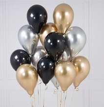 18pcs 10/12 inch White and Gold Balloon metallic wafer Balloons For Party Decorations Wedding Birthday Party Supplies