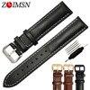 ZLIMSN Leather Watchbands Genuine Strap Belt Watch Band Watches Bracelet Belt Wristband Accessories 18 20mm 22mm