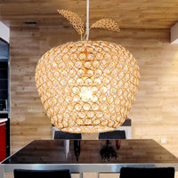 LED Chandelier Lamp E27 Modern Sconce K9 Crystal Foyer Lamps Shade Home Decor Luminaire FRHC 27
