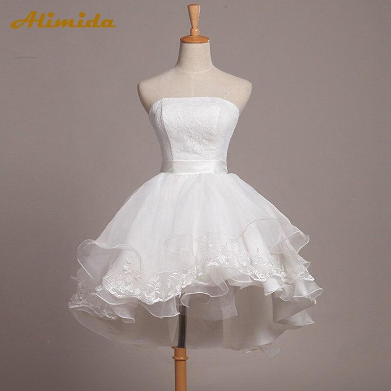 2baa3ac367 ALIMIDA krótka suknia wieczorowa 2017 łodzi szyi suknia balowa Party  sukienki eleganckie wielowarstwowa suknia Backless robe de soiree w ALIMIDA  krótka ...