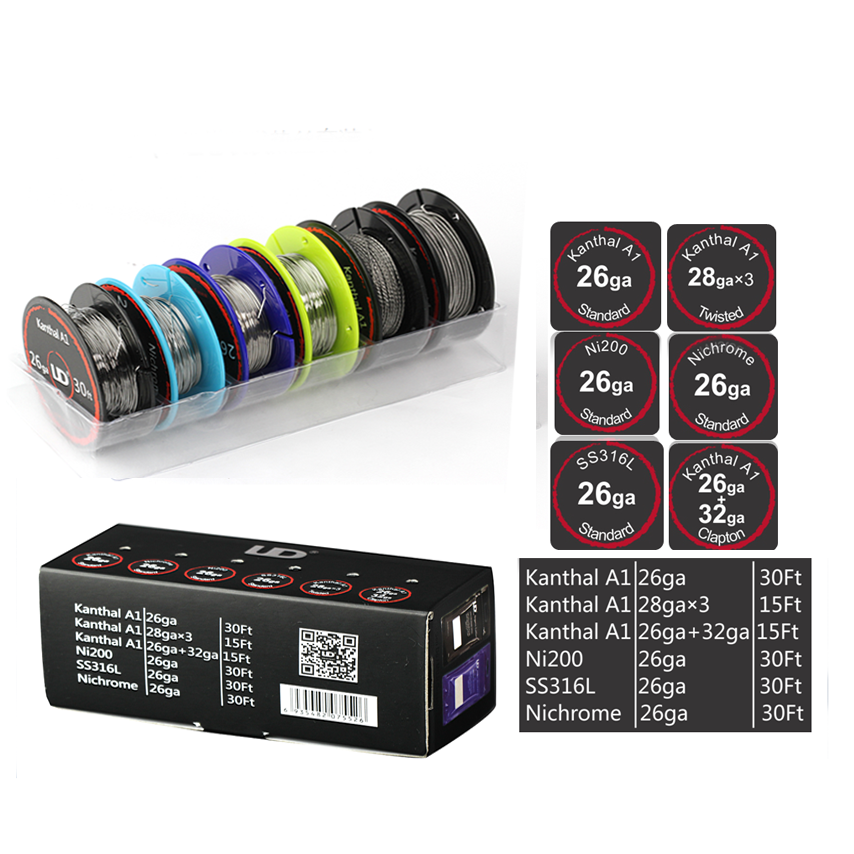 Original UD Wire Box with 6 kinds of wires SS316L/Ni200/Nichrome ...
