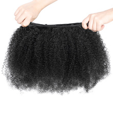 Afro Curly Brazilian Virgin Hair .