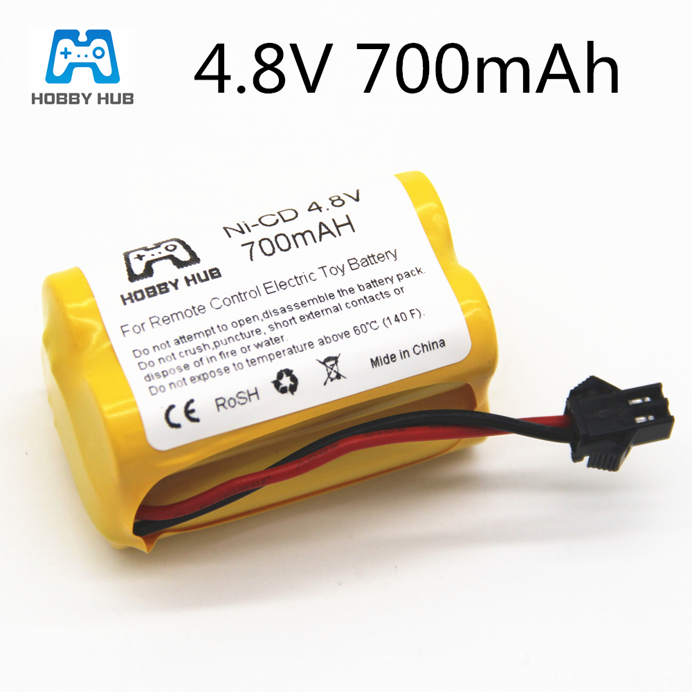 4.8v 700mah Rechargeable ni-cd aa 4.8v bateria 4.8v nicd ni cd battery pack 4.8v 800mah for RC boat model car toy