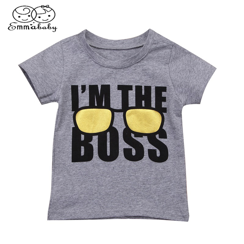 Emmababy T-Shirt Short-Sleeve Grasses-Printed Kids Cotton Child Summer Tops 1-6-Years