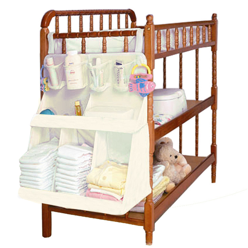 Baby Bed Diapers Organizer Hanging Bag Waterproof Portable Storage Bag Baby Bedding Accessories 63*48*25cm