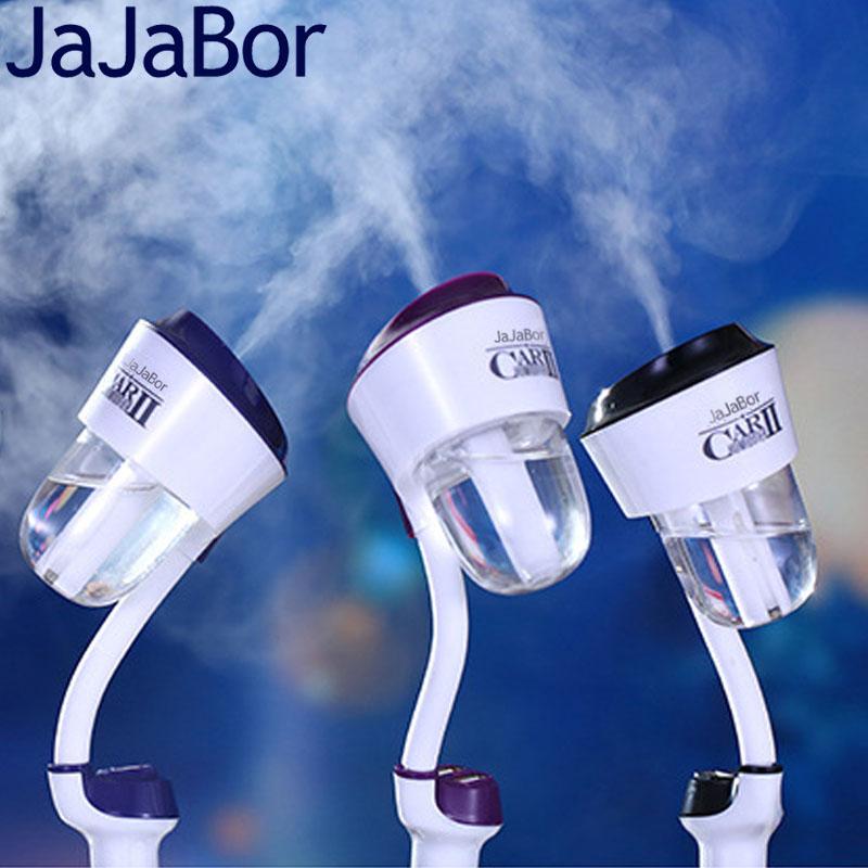 Prix pour JaJaBor Voiture Humidificateur D'air Purificateur D'air Désodorisant Ultrasons Atomisation Aromathérapie Mist Maker Fogger Double USB Chargeur De Voiture