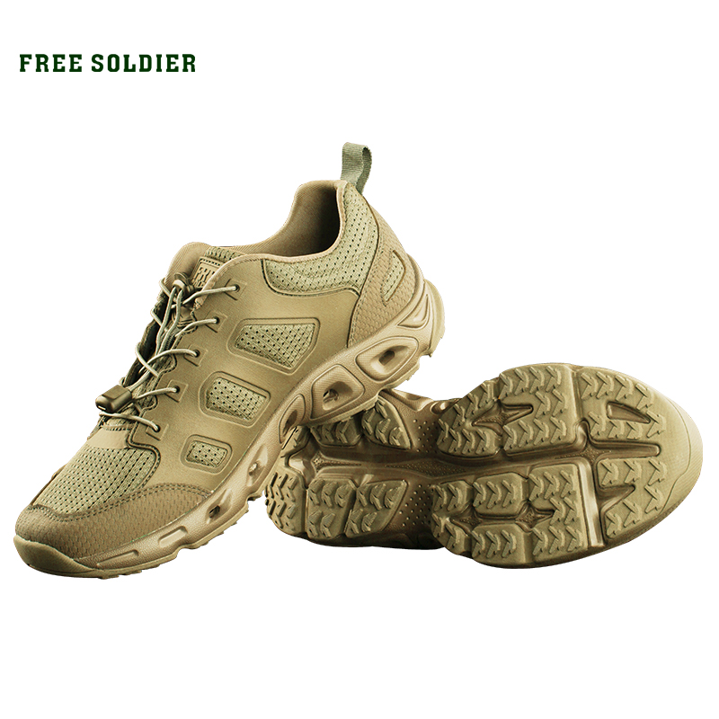 FREE SOLDIER outdoor sports camping hiking tactical military upstream shoes breathable quick drying shoes for men