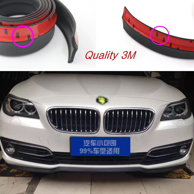 For <font><b>BMW</b></font> 6 <font><b>M6</b></font> F12 F13 Bumper Lip / Front Spoiler Deflector For Car View Tuning / <font><b>Body</b></font> <font><b>Kit</b></font> / Strip Skirt / Anti-Scratch Stickers image
