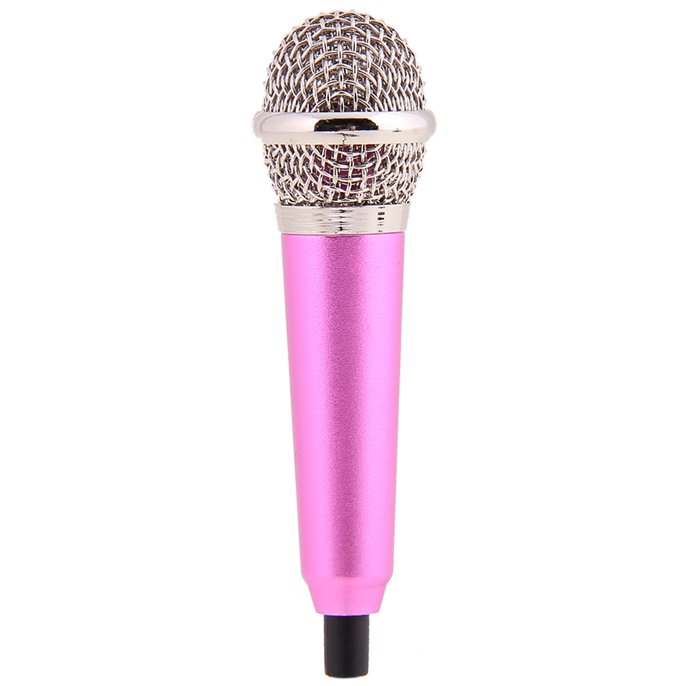 Mini Microphone 3.5mm Pocket Size Multimedia Clip Mic Portable Microphone with mic stand for PC Laptop Desktop Studio Speech