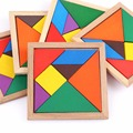 5 pcs/lot Jigsaw Puzzle Wooden Tangram Educational Toy Gift For Kids Children Tangram Wooden Jigsaw Puzzle Educational Toys
