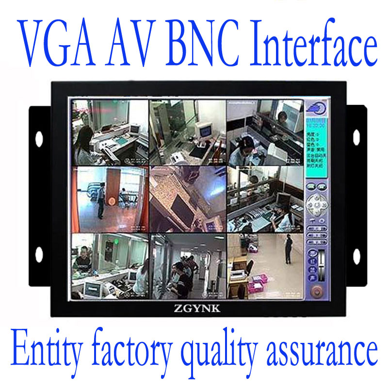 ZGYNK / 8 inch Open Frame Industrial monitor/ metal monitor with VGA /AV/BNC/HDMI monitor white 8 inch open frame industrial monitor metal monitor with vga av bnc hdmi monitor