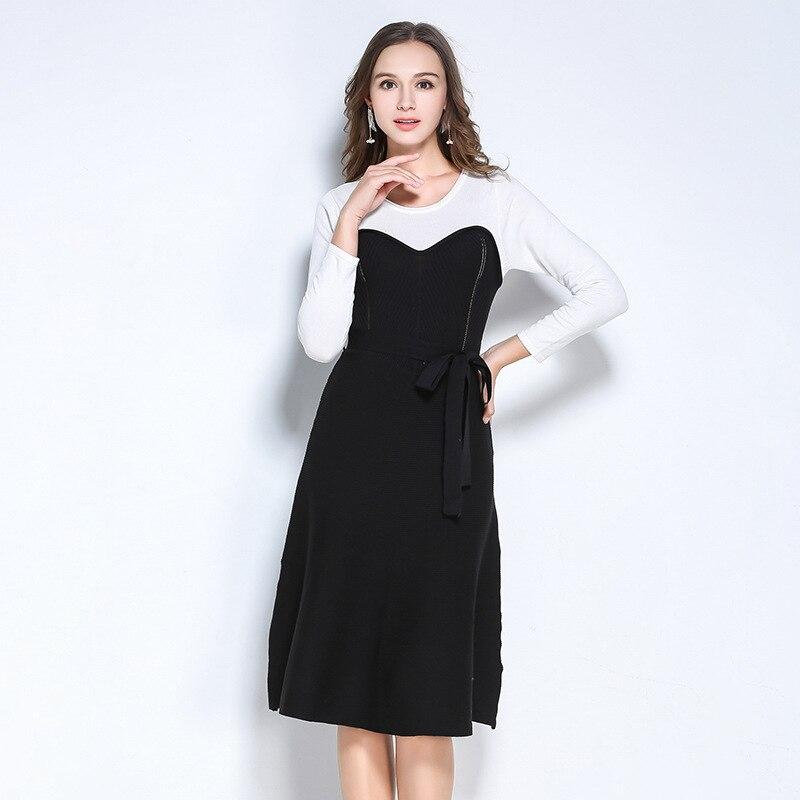 Autumn Sweater Dress Sexy 2017 Fall Fashion Women Clothing Womens Winter Bandage Party Knitting Plus Size Black Vintage Dresses