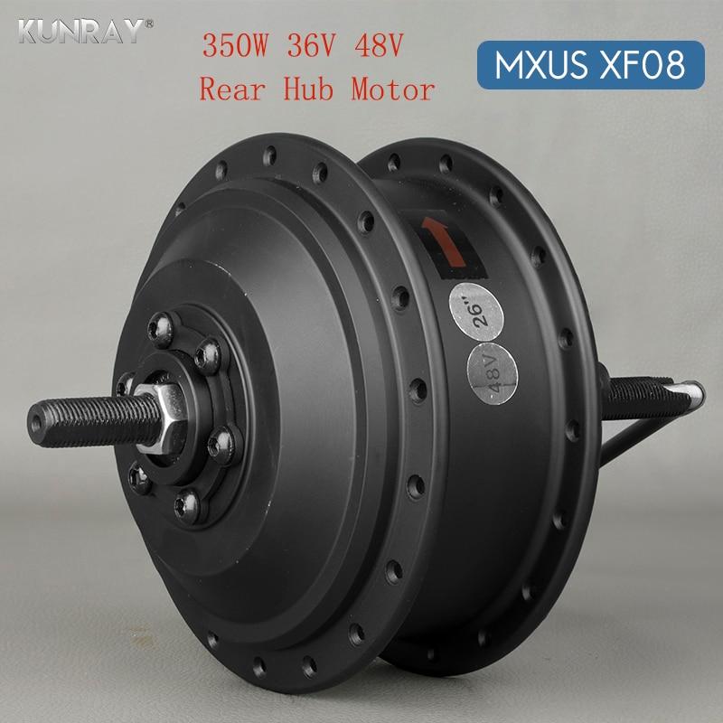36V 48V 350W High Speed Brushless Gear Hub Motor E-bike Motor For 20inch - 28inch 700C Bicycle Rear Wheel Drive MXUS XF08