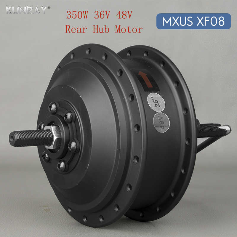 36V 48V 350W High Speed Brushless Gear Hub Motor E-bike Motor For 20inch - 28inch 700C Bicycle Rear Wheel Drive MXUS XF08