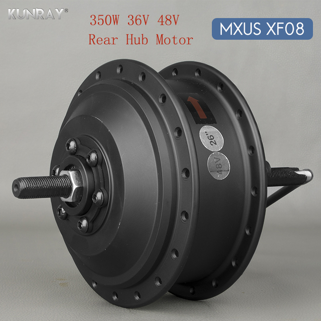 36 V 48 V 350 W Высокое Скорость бесщеточный Планетарная втулка для электровелосипедов для 20 дюймов-28 дюймов 700C заднее колесо велосипеда диск MXUS XF08