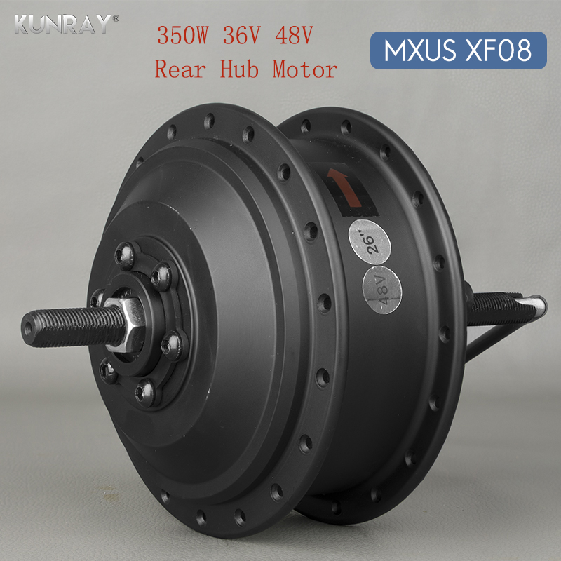 36V 48V 350W High Speed Brushless Gear Hub Motor E-bike Motor For 20inch - 28inch 700C Bicycle Rear Wheel Drive MXUS XF08 high speed 24v 36v 48v 350w ebike brushless gearless mini hub motor rear wheel with 7 speed gear hub dropout 135mm