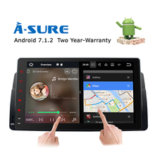 A-Sure Car Android 7.1 GPS Player for BMW E46 3 Series Rover 75 MG DAB+ Radio 9 inch player Mirror link WIFI BT Navigation