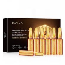 Hyaluronik asit yüz serumu seti 7 adet özü kollajen cilt bakımı gözenek Minimizer beyazlatma Anti aging Pigment sıfır Nicotinamide P