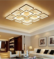 Square Overlay Acrylic LED Ceiling Lamp Living Room Bedroom Study Room Aisle Office Ceiling Light Commercial decorative lighting