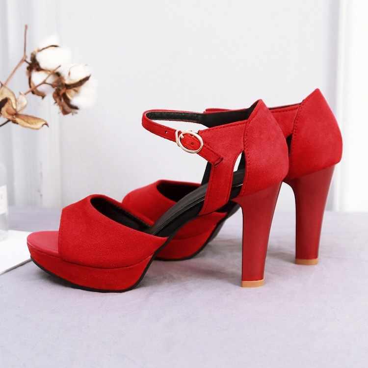Big Size 9 10 11-17 di estate delle signore sandali della piattaforma delle donne scarpe da donna della bocca dei Pesci fibbia con il sacchetto impermeabile piattaforma