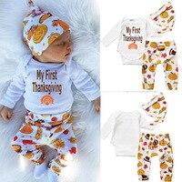 Godier 2017 Baby Boy Clothing Sets Newborn Cute Baby Boy Girl Cartoon Long Sleeve Romper Pants