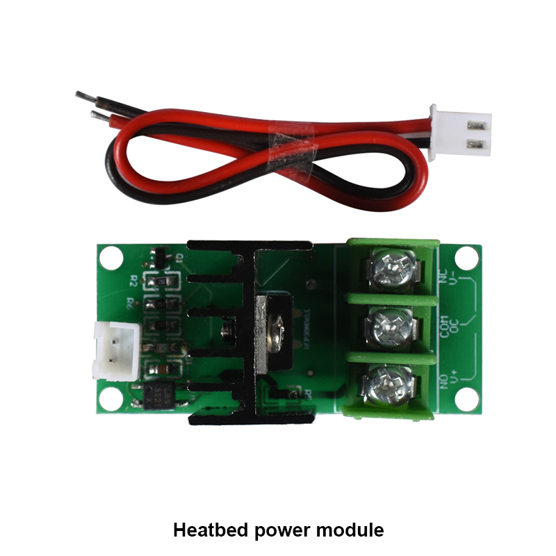 2pcs 3D Printer Hot Bed Power Expansion Board Heatbed Power Module Relay MOS Transistor Tube High Current Load Module 50A 5-40V 5pcs lot bts555 bts555p t0 218 5 smart impedance high current power high side switching transistor