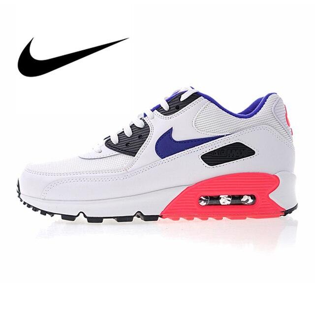 Nike Air Max 90 esencial de los hombres Zapatos de deporte al aire libre de buena calidad atlética calzado de diseñador 2018 nueva 537384 -136