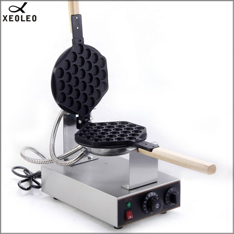 XEOLEO Commercial Egg puff maker QQ Egg waffle machine Stainless steel Egg waffle maker 1400W 220V Hongkong bubble egg cake oven
