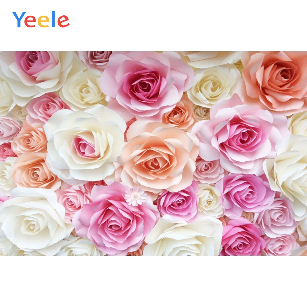 Yeele Vinyl Wedding Ceremony Flowers Rose Scene Photography Backdrops Love Party Photographic Backgrounds For Photo Studio in Background from Consumer Electronics