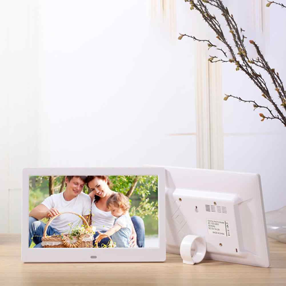 HobbyLane 10.1 Inch Widescreen Digital Photo Frame 1024x600 HD Ultra-Thin LED Electronic Photo Album LCD Photo Frame d25