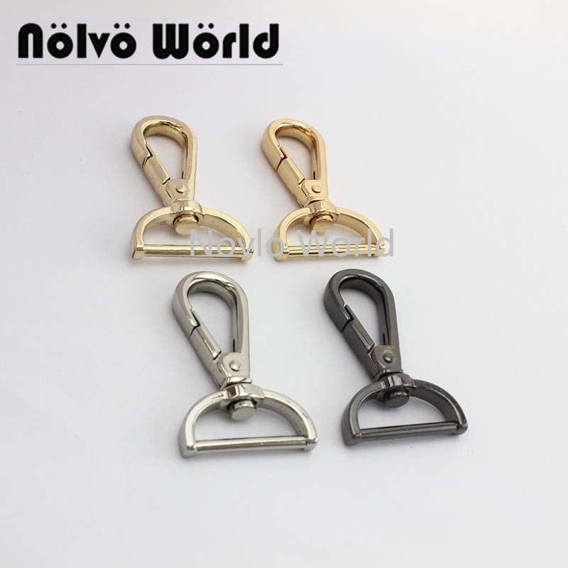 "6pieces test, 49*25mm 1"" small quantity bags purse accessories, suitcase or handbag strap chain swivel clasps()"