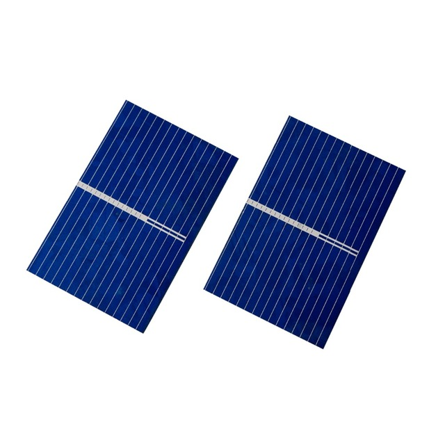 ECO-WORTHY 20PCS 39X26mm Polycrystalline Solar Cell Solar Cell Price Tabbing Bus&Flux Pen for DIY Poly Solar Panel