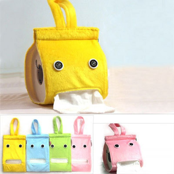 Random Cute Elef Fabric Tissue Box Cover Candy Color Toilet Roll Holders K1462