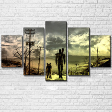Wall Art HD Print FALLOUT V2 Game Canvas 5 Piece Painting For Living Room Modern Decorative