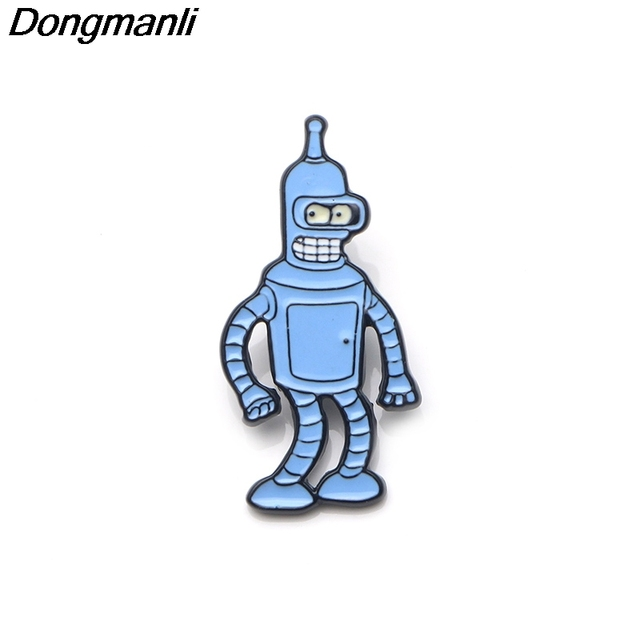 4dd98a91d17 P3259 Dongmanli Futurama Cute Enamel Pins and Brooches for Women Men Lapel  Pin backpack bags badge Gifts