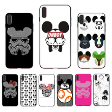 IMIDO Mickey star wars design Soft silicone phone case For iPhone 7 8 7plus 8plus X XS XR Xsmax 6 6S 6plus 6splus 5 5s se shell