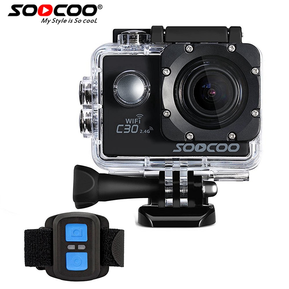 SOOCOO C30 C30R 4K Sports Camera Wifi Gyro NTK96660 30M Waterproof Adjustable Viewing angles Action Camera