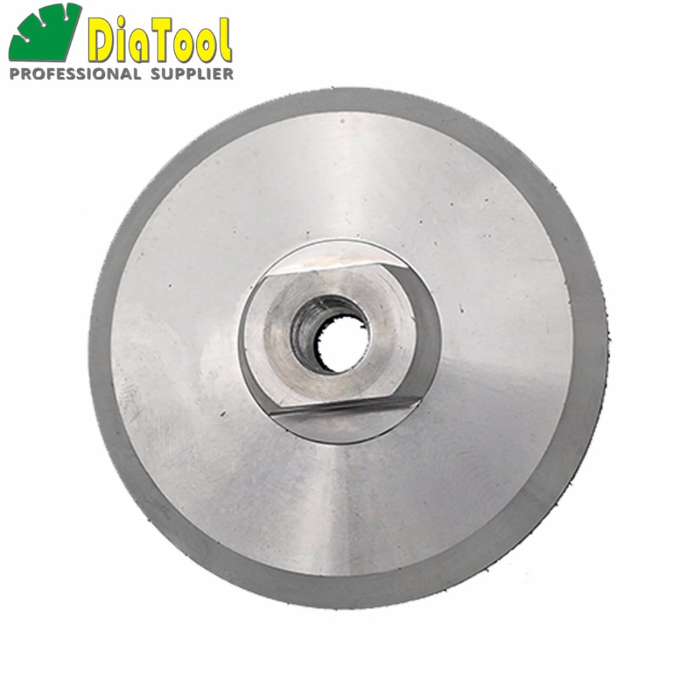 DIATOOL 4inch Aluminum base backer pads for polishing pads sanding discs abrasive disc M14 Thread, 100mm back pad 1pc white or green polishing paste wax polishing compounds for high lustre finishing on steels hard metals durale quality