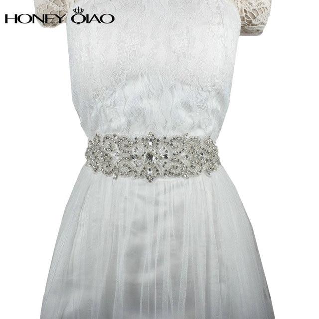 Crystal Bridal Belts for Wedding Dresses 2016 Cinturones de novia con Cristales Rhinestone Bow Sashes for Wedding Accessories