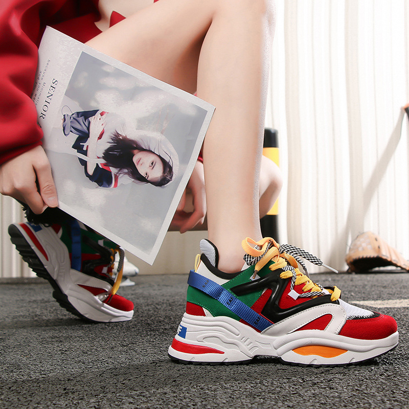 aa509638a Velhos branco Estudantis Primavera Do Nova Versão Fogo vermelho Sapatos  Vermelho Net Casuais MulheresPreto Coreana Super xCrWdBoe