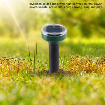 Solar Power Ultrasonic Mole Outdoor Insect Killer Snake Mouse Rat Trap Pest Reject Bird Repeller Control For Garden Lawn Yard
